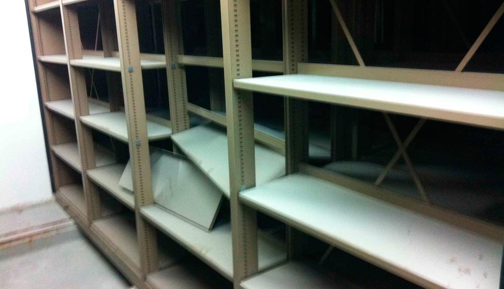 reparación estanterias moviles
